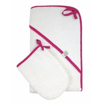 Hooded Towel with Mitten Ocean