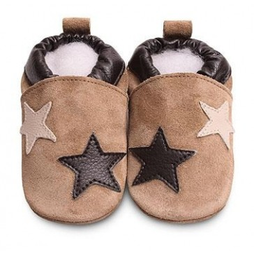 Shoo Shoo Leather Baby Shoes -  Black/Grey Ellie
