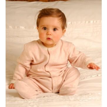 Dusky pink Marl Babygrow