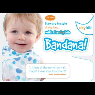 DryBib Bandana Backing Card Triple