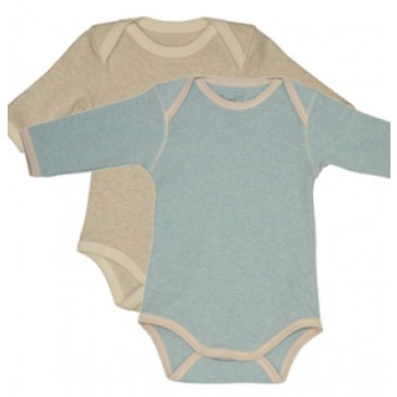 Marl Baby Body 2 Pack, Blue and Moonbeam