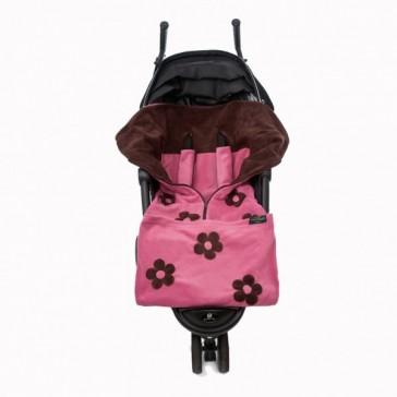 Cozyosko Multifunction Footmuff Dusky Pink Flowers