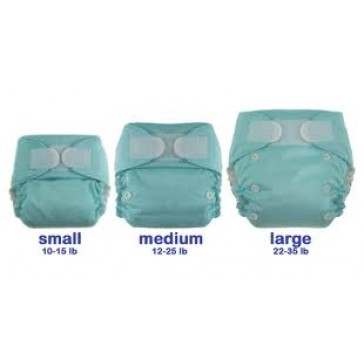 Blueberry Deluxe One Size Pocket nappy - fleece lined. Hook and Loop