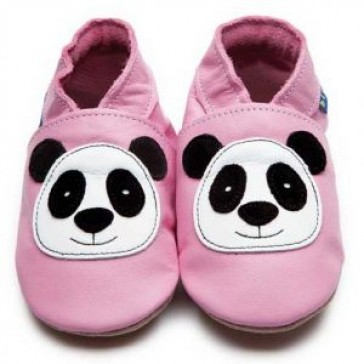 Inch Blue Soft Leather Baby Shoes - Panda Baby Pink