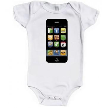IPopWear Iphone Organic Cotton Baby Vests