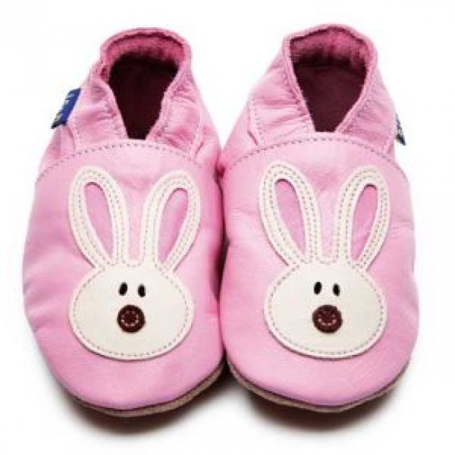 Home / Inch Blue Soft Leather Baby Shoes - Flopsy Baby Pink/Cream