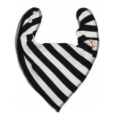 DryBib Bandana Bib - Black & White Stripe