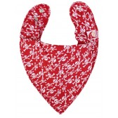 DryBib Bandana Bib by HipHipBaby Skulls on Red
