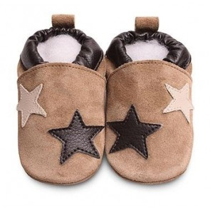 Shoo Shoo Leather Baby Shoes -  Black/Grey Ellie