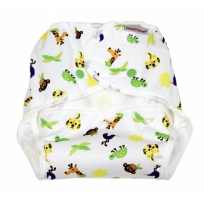 Imse Vimse Smart wrap Small Zoo with Snaps and Velcro