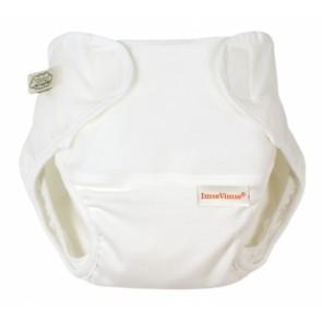 Imse Vimse Organic Nappy Wrap PREEMIE White