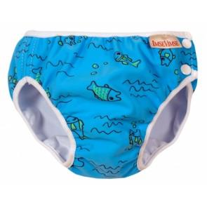 Imse Vimse swim nappy Turquoise Fish Medium
