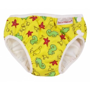 Imse Vimse swim nappy Yellow Seahorse Small