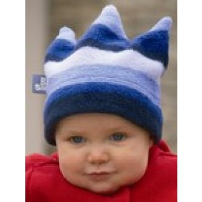 Buggysnuggle Blue Stripe Crown fleece hat