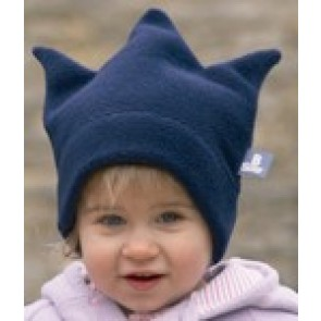 Buggysnuggle Navy Blue Crown fleece hat