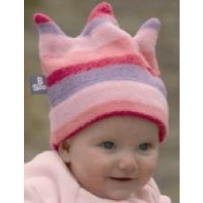 Buggysnuggle Pink Stripe Crown fleece hat