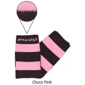 Huggalugs baby leg warmers - Choco Pink