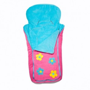 Cozyosko reversible buggy bag Aqua/Pink