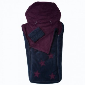 Cozyosko Reversible Buggy Bag Aubergine / Dark Navy Echidna