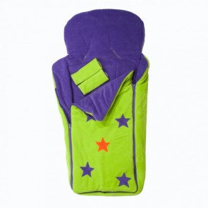 Cozyosko reversible buggy bag Lime / Purple