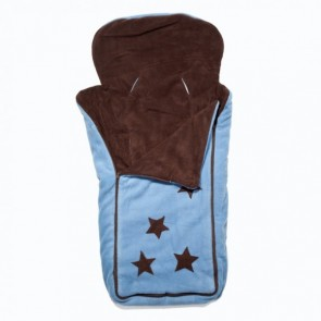 Cozyosko reversible buggy bag Chocolate / Jacaranda