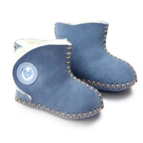 Cwtch Petrol Blue sheepskin booties