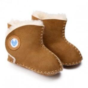 Cwtch Tan sheepskin booties