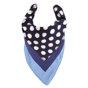 Navy Polka Dots DryBib Bandana Bib Triple Packs