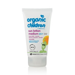 Green People Organic Children's Sun Lotion Lavender  (SPF25, 150ml).