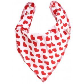 DryBib Bandana Bib - Red Hearts