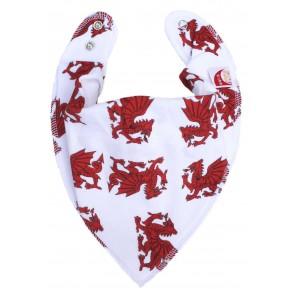 DryBib Bandana Bib - Welsh Dragons