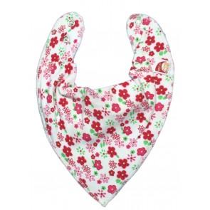 DryBib Bandana Bib - Strawberry Flowers