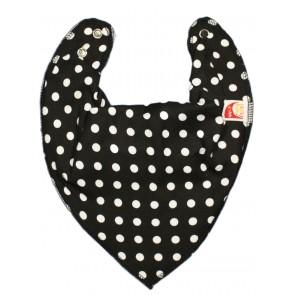 DryBib Bandana Bib - Black Polka Dot