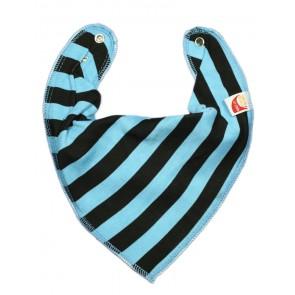 DryBib Bandana Bib - Turquoise & Black Stripe