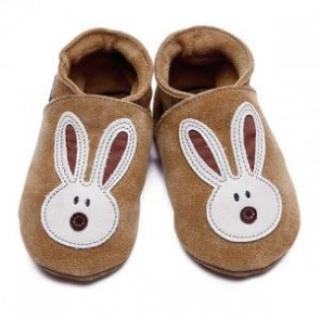Inch Blue Soft Leather Baby Shoes - Flopsy Tan