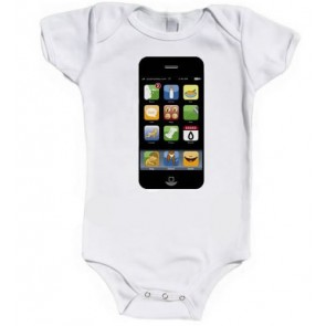 IPopWear Iphone Organic Cotton Baby Vests