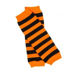 MyLittleLegs Orange and Black Stripe Leg Warmers