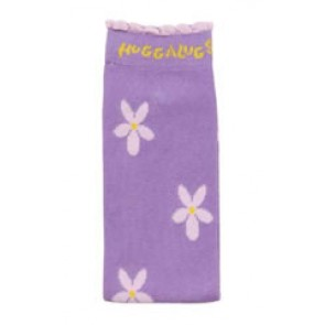 Organic Huggalugs baby leg warmers - Daisies on Lilac