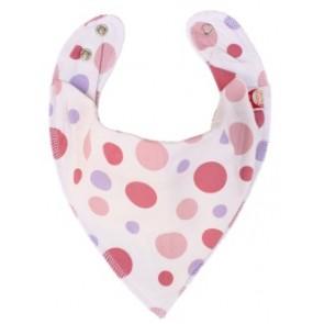 DryBib Bandana Bib - Pink Spots