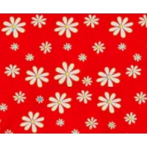 FuzziBunz Zipped Tote Bag Red Daisy