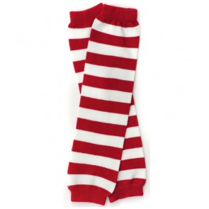 MyLittleLegs Red and White Stripe Leg Warmers