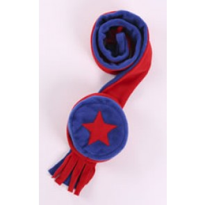 Red and Blue Cozyosko Beanie Hat and Scarf Set