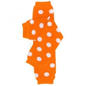 MyLittleLegs Tangerine Polka Dot Leg Warmers
