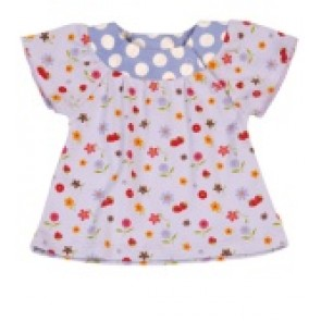 Frugi Bloomin lovely top - purple heather print