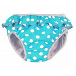 Imse Vimse swim nappy Turquoise Dots Frilly Medium