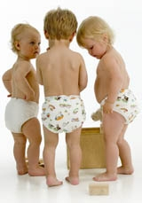 Imse Vimse organic cotton nappy wraps covers on children